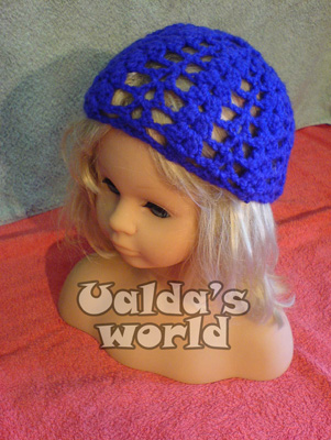 Lacey purple flapper skullcap