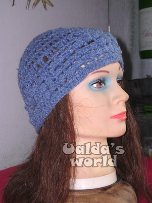 Blue skullcap with bobbles