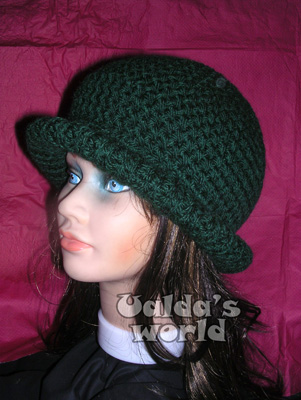 Dark green crochet hat