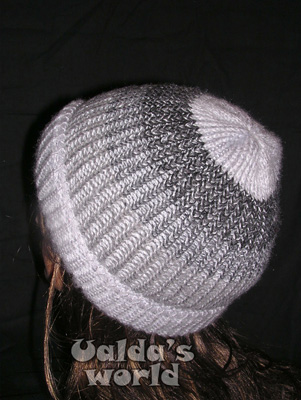 Grey banded woolly knitted hat