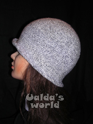 Grey boho crochet hat