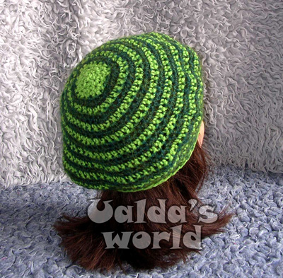 Green hooped beret
