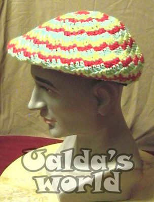 Big floppy beret in rasta colours